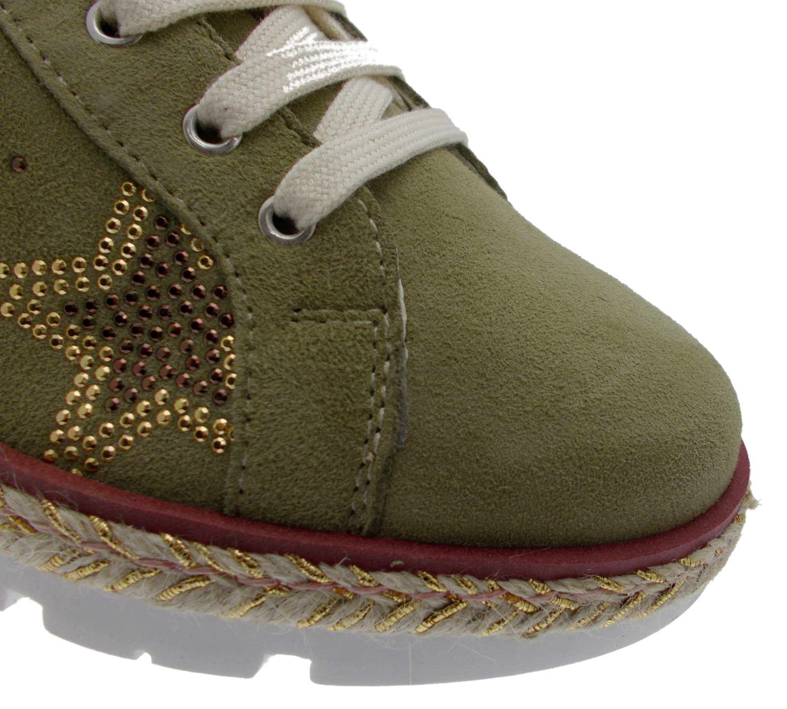 C3785  scarpa donna sabbia fiori ortopedica plantare estraibile sneacker Loren