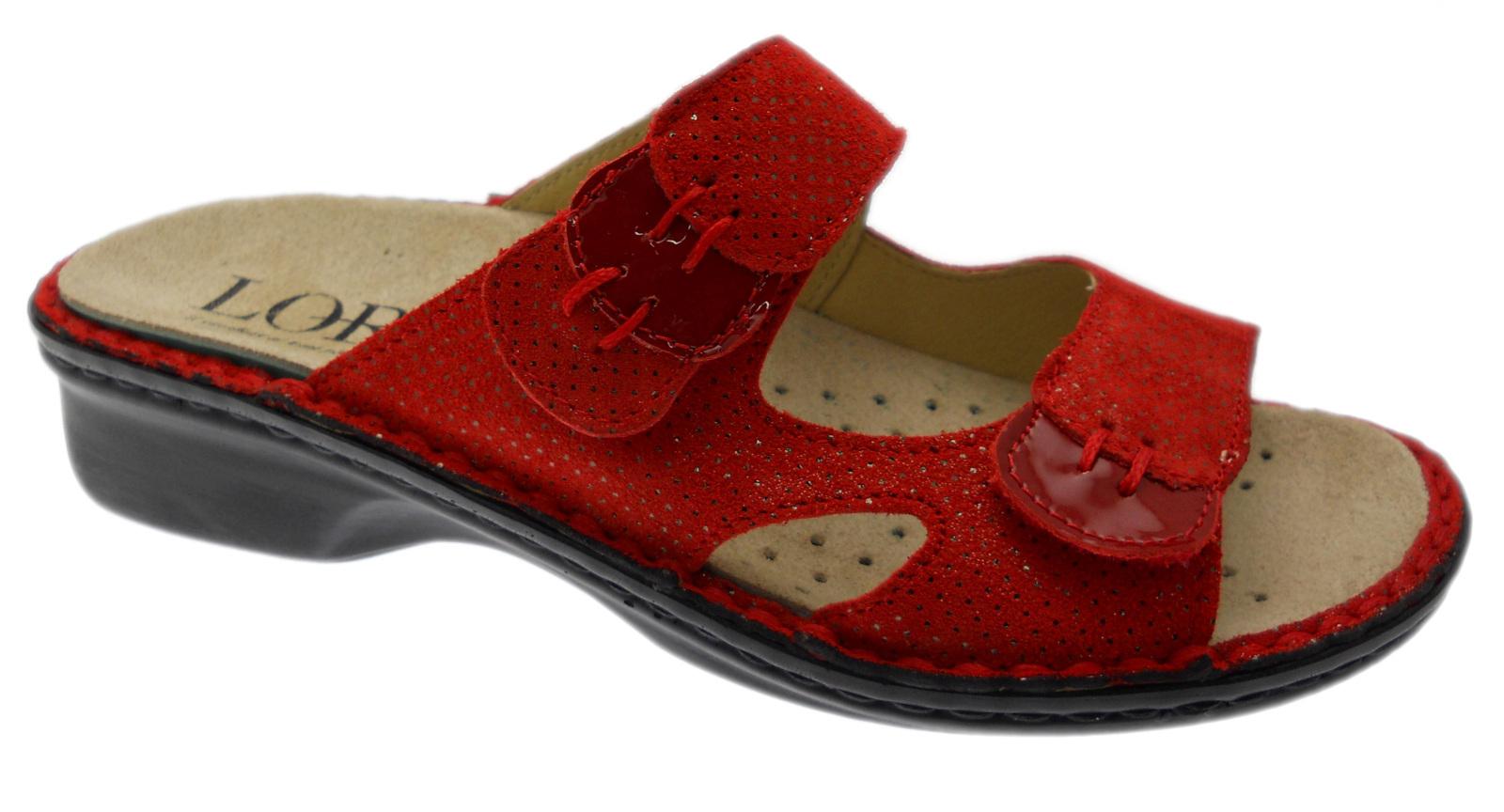 grande vendita classico sulle immagini di piedi di LOREN M2772 ciabatta ortopedica con plantare rosso regolabile