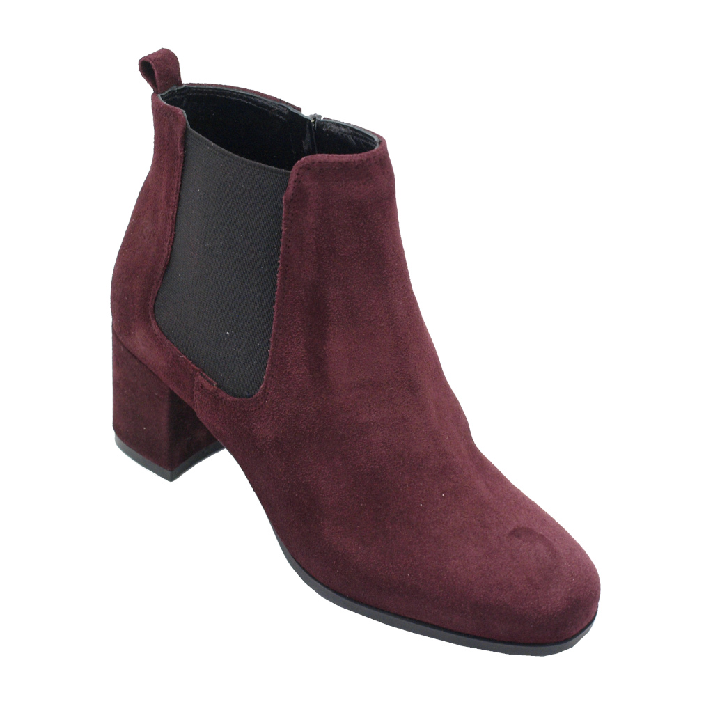 Soffice Sogno standard numbers Shoes bordeaux chamois heel 5 cm