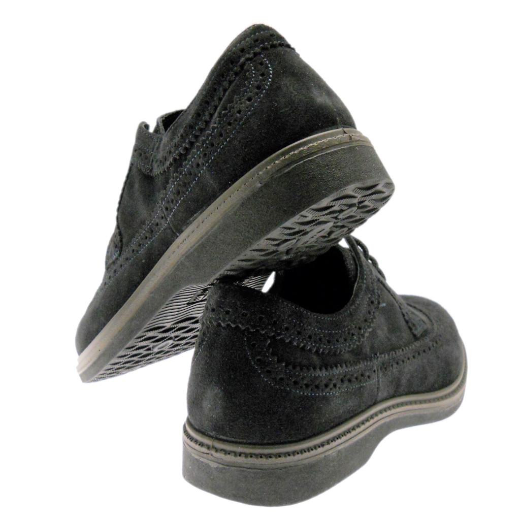 LOREN G0292 lacci inglese blu scarpa uomo plantare ortopedica