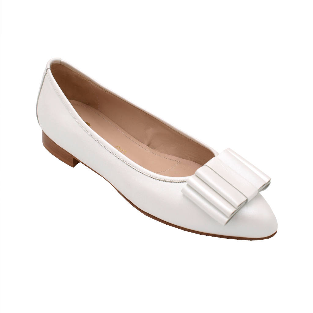 Angela Calzature Sposa e Cerimonia special numbers Shoes White leather heel 1 cm