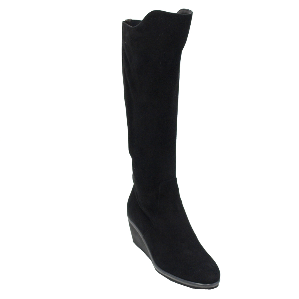 Angela Calzature Numeri Speciali special numbers Shoes black chamois heel 3 cm