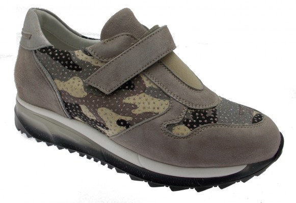C3738 orthopedic camouflage sand woman shoe sneakers