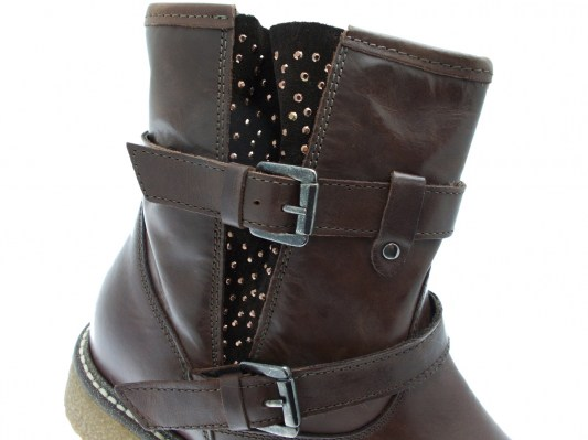 Loren C3750  stivaletto anckle boot marrone ortopedico plantare