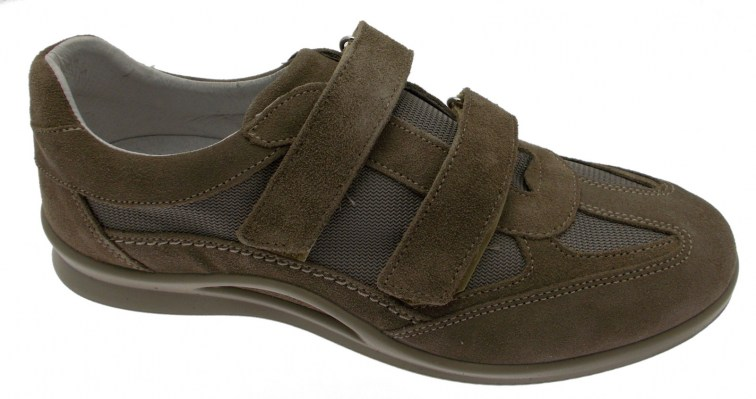 art G0250 taupe taupe suede and Goretex Velcro sneaker