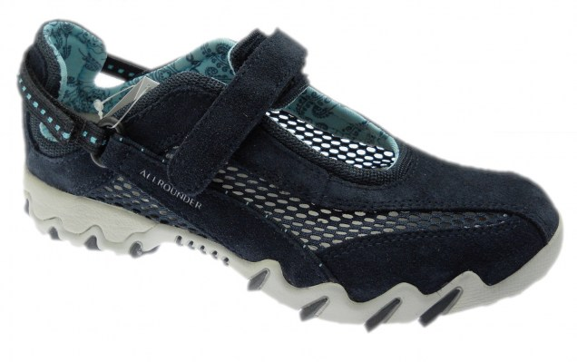 Mephisto Allrounder NIRO removable blue oceanic plantar woman sport shoe