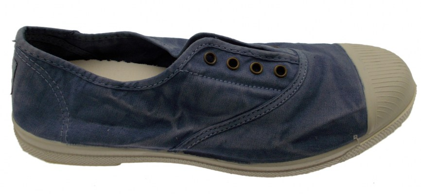 NATURAL WORLD ECO scarpa in cotone blue  jeans 102E 690