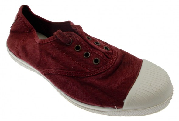 102E 620 tennis cotone eco tela bordeaux vegan