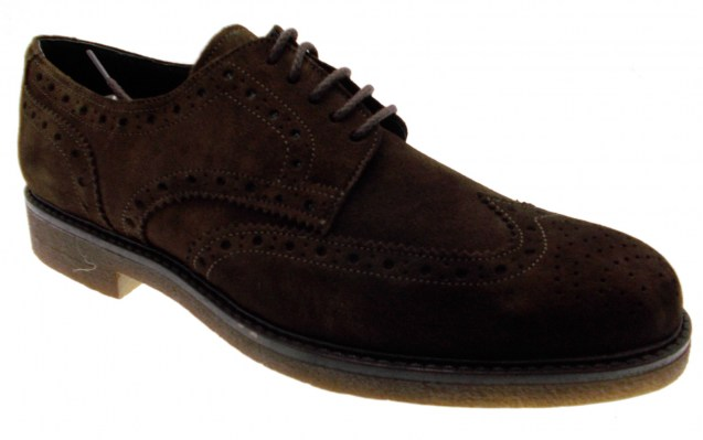 classic men\'s shoe laced brown suede brogues inglesina Article 749