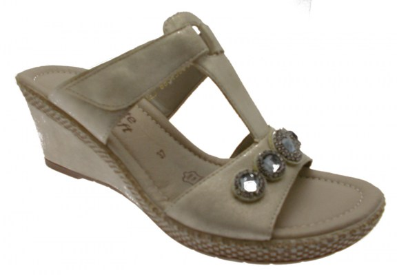 D0461-60  zoccolo sabot  donna platino metal zeppa paillettes