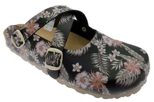 19203 slipper shoe anatomical fancy black feather