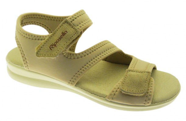 Riposella 2101 beige stretch sandal adjustable post-operative physiotherapy