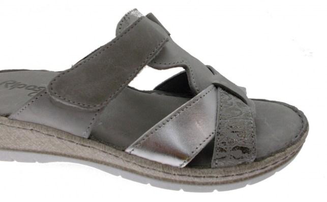 6299 open slipper gray footbed memory Riposella