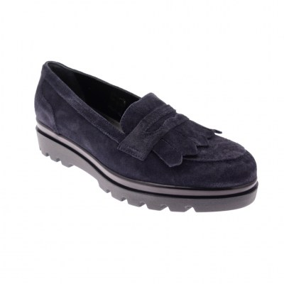 SOFFICE SOGNO 9850 mocassino  scarpa donna blu slip on shoes