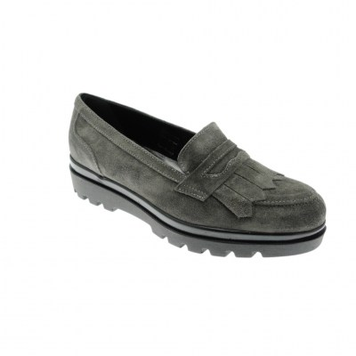 SOFFICE SOGNO 9850 mocassino  scarpa donna grigio slip on shoes