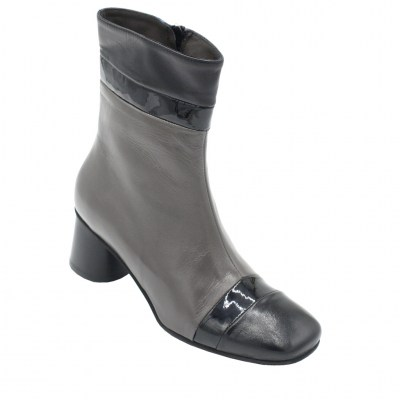 Angela Calzature standard numbers Shoes Grey leather heel 5 cm