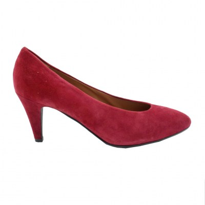 Angela Calzature Numeri Speciali special numbers Shoes bordeaux chamois heel 7 cm