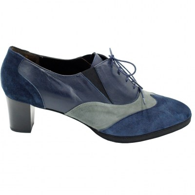 Angela Calzature Numeri Speciali special numbers Shoes Blue leather heel 5 cm