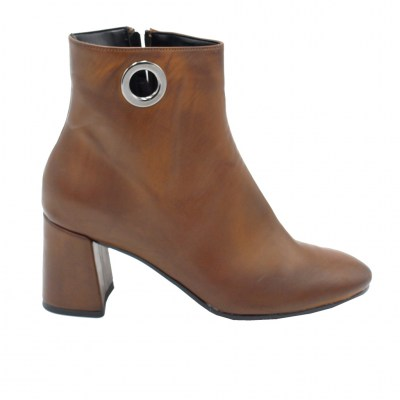 Angela Calzature Numeri Speciali special numbers Shoes marrone ecopelle heel 6 cm
