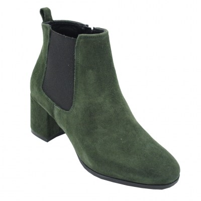 Soffice Sogno standard numbers Shoes Green chamois heel 5 cm