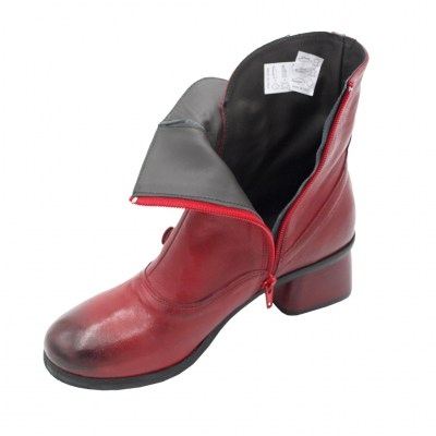 Angela Calzature standard numbers Shoes Red leather heel 5 cm