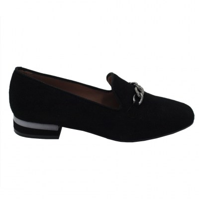 Angela Calzature special numbers Shoes black chamois heel 1 cm
