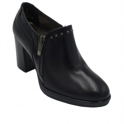 Confort standard numbers Shoes black leather heel 7 cm