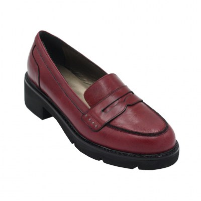 Confort standard numbers Shoes bordeaux leather heel 2 cm