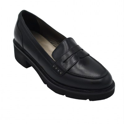 Confort standard numbers Shoes black leather heel 2 cm