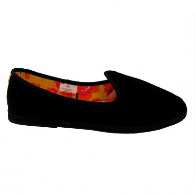 Defonseca standard numbers Shoes black velluto heel  cm