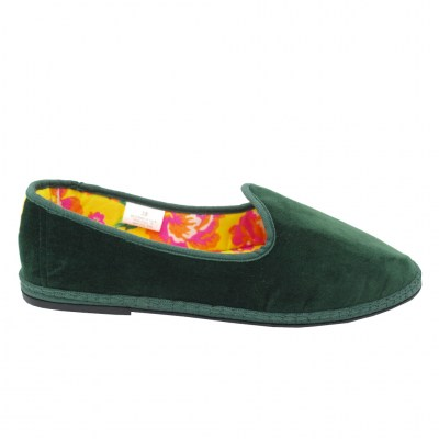 Defonseca standard numbers Shoes Green velluto heel  cm