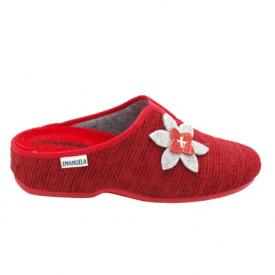 Emanuela standard numbers Shoes Red lana cotta heel 1 cm