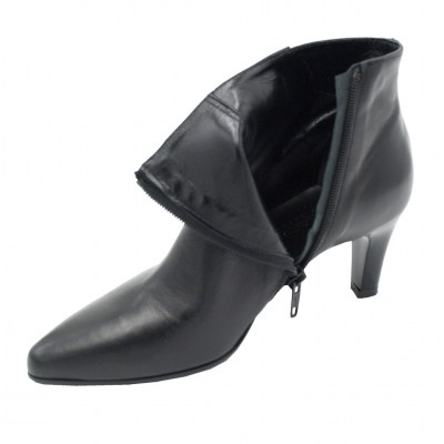 Soffice Sogno standard numbers Shoes black leather heel 6 cm
