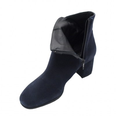 Soffice Sogno standard numbers Shoes Blue chamois heel 5 cm