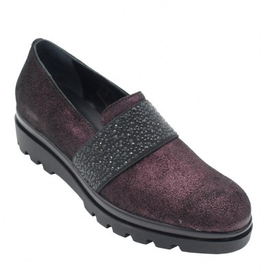 Soffice Sogno standard numbers Shoes bordeaux leather heel 2 cm