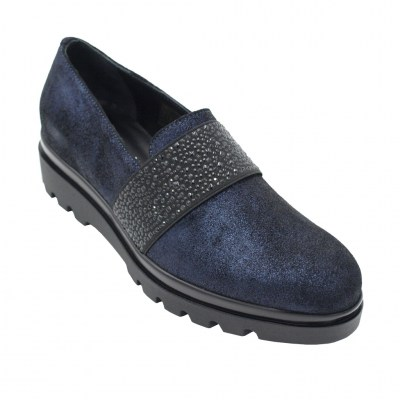 Soffice Sogno standard numbers Shoes Blue leather heel 2 cm