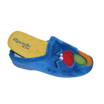 Riposella 4593 slipper with removable plantar caterpillar bear