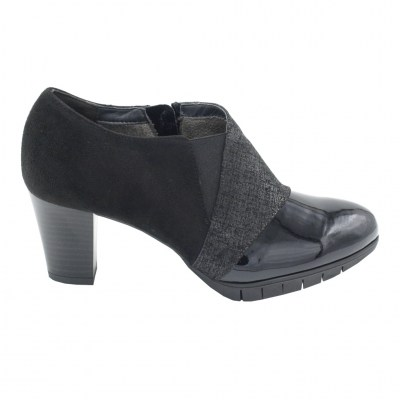 COMART calzaturificio standard numbers Shoes black ecopelle heel 6 cm