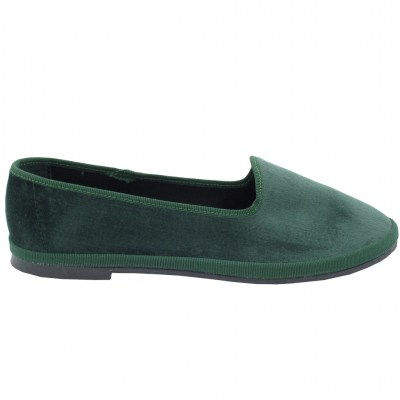 FRIULANE standard numbers Shoes Green velluto heel  cm