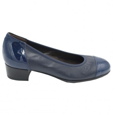 Angela Calzature Numeri Speciali special numbers Shoes Blue leather heel 2 cm