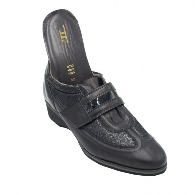 Angela Calzature Numeri Speciali special numbers Shoes black elasticizzato ortopedico heel 3 cm