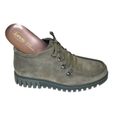 LOREN E0699 green boot with removable orthopedic insole