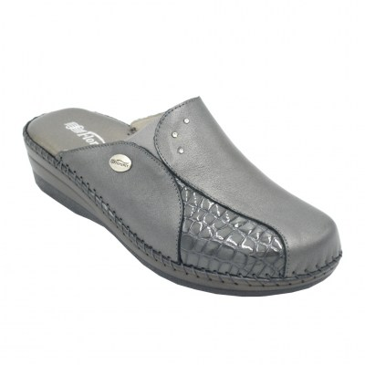 Florance standard numbers Shoes Grey leather heel 2 cm