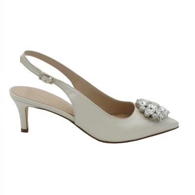 Angela Calzature Sposa e Cerimonia  Shoes avorio leather heel 5 cm