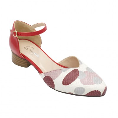 Angela Calzature  Shoes Red leather heel 3 cm