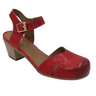 Angela Calzature  Shoes Red leather heel 5 cm