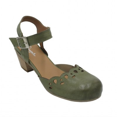 Angela Calzature  Shoes Green leather heel 5 cm