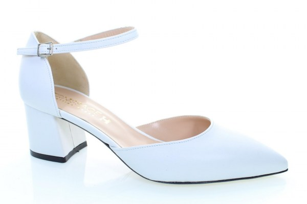 Soffice Sogno  Shoes White leather heel 5 cm