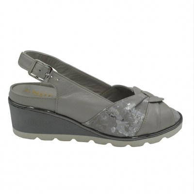 Angela Calzature Numeri Speciali  Shoes Grey leather heel 3 cm