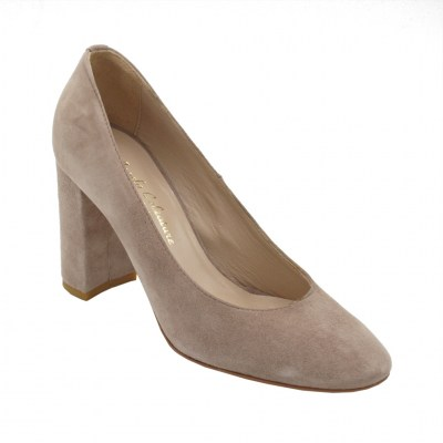 Angela Calzature Numeri Speciali  Shoes Pink chamois heel 9 cm